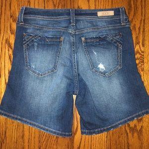 Buckle Black denim shorts